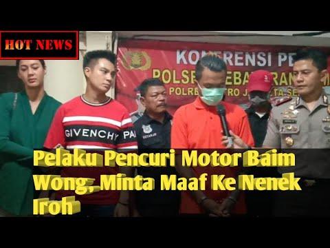 Pelaku Pencuri Motor Ditangkap, Baim Wong : Saya Sih Sebenernya Kasian, Cuma Mau Bagaimana Lagi